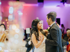 Indian couple having their first reception dance.