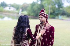 Suprised Raja greeting the Maharani
