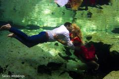 Maharani and Indian groom underwater
