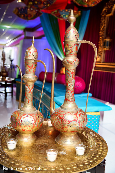 Ornaments of the Indian wedding venue
