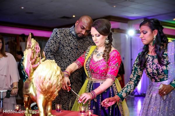 Pre-wedding rituals happening