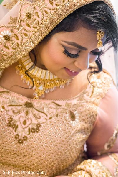 Bride wearing the lengha