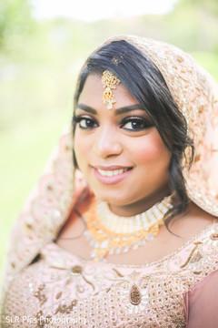 Bride looking at the camera