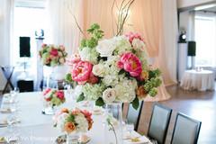 Floral arrangement details of the reception