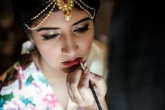 Maharani getting her makeup done.
