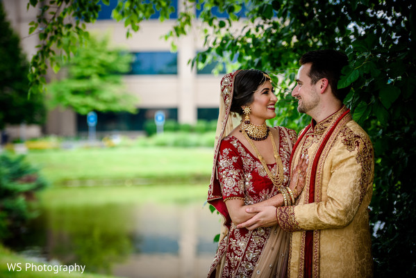 Incredible Indian couple's outdoors photo.