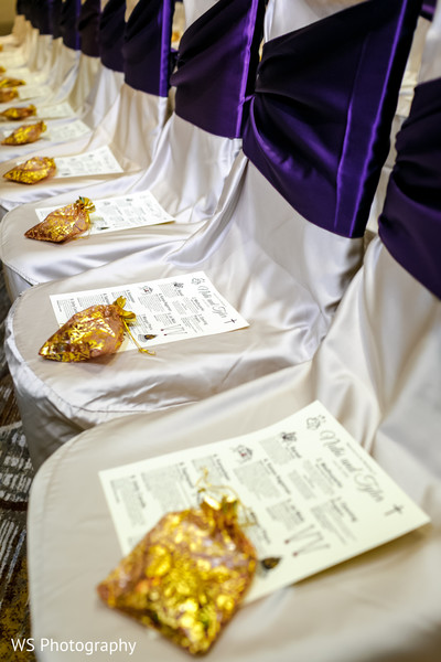 Elegant Indian wedding favors and ceremony guide.