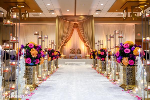 Magnificent Indian wedding ceremony decor.