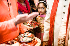 Lovely guest during the Dwar Puja.