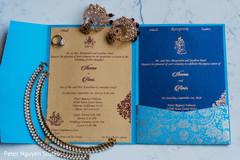 Stunning Indian wedding invitation and maharani's jewelry.
