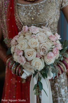Indian bridal lovely roses bouquet.