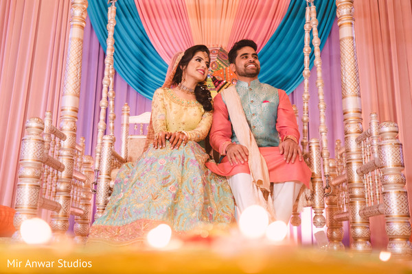 Glowing indian couple capture.