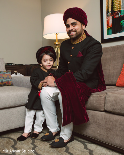 rajah,indian groom sherwani,turban,page boy