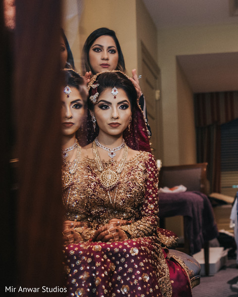 maharani's jewelry,ghoonghat,indian bridal ceremony fashion