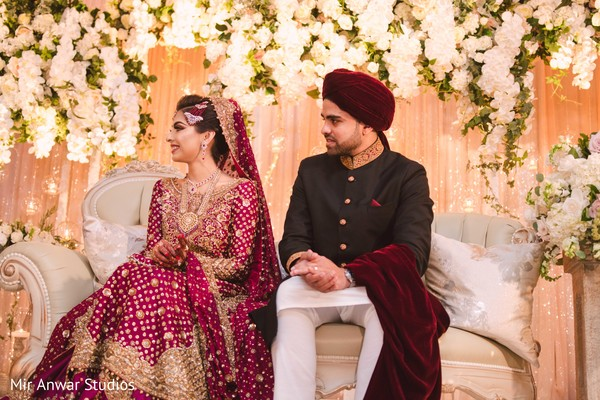 See this lovely Indian couple at wedding ceremony.