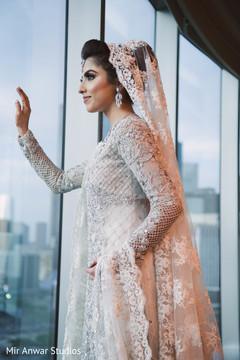 Incredible maharani's reception white Anarkali.