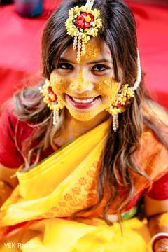 Closeup capture of maharani's face.