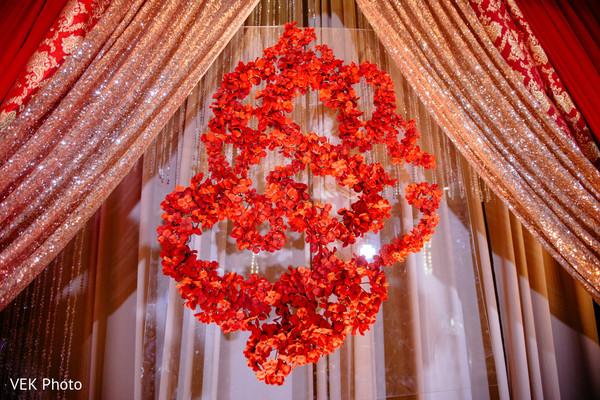 Ganesha Puja flowers mandap decoration.
