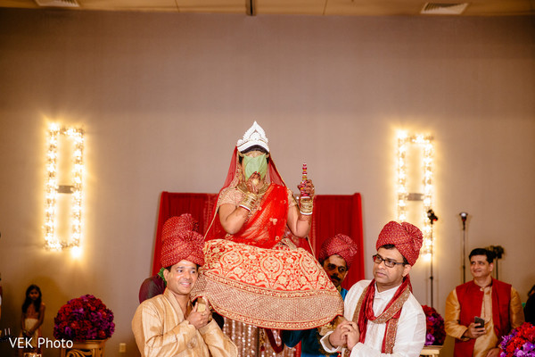 Indian bride's entrance to ceremony.