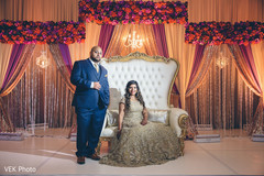 Glamorous Indian bride and groom style.