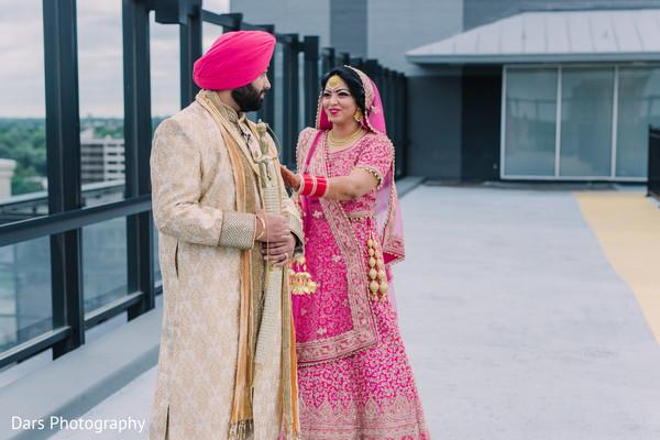 Indian bride meeting with Raja