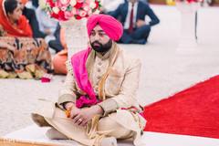 Indian groom waiting for the Maharani