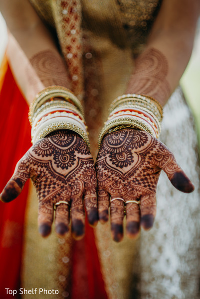 Closeup capture of maharanis henna art.