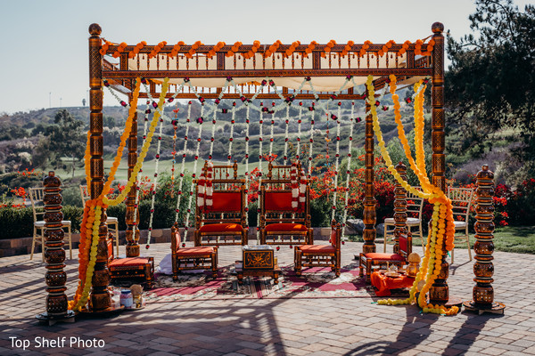 Mandap ceremony decoration.