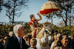 Traditional indian wedding baraat.