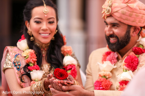 See this traditional Indian wedding ritual.