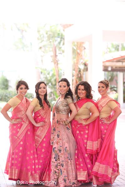 Enchanting bride and bridesmaids photo shoot.