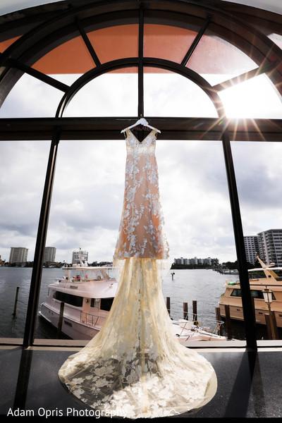 Marvelous Indian bridal white wedding dress with veil.