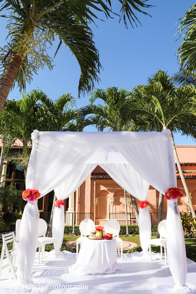 Dreamy Indian wedding ceremony mandap decor.
