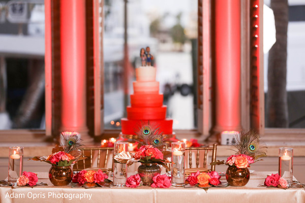 Incredible Indian wedding flowers table decoration.