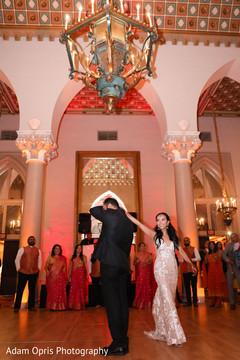 Indian couple reception dance.