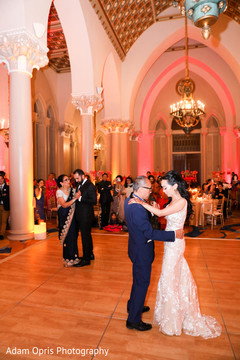 Marvelous Indian couple reception dance with parents.