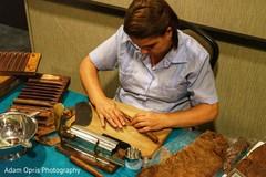 Incredible Indian wedding handmade cigars.