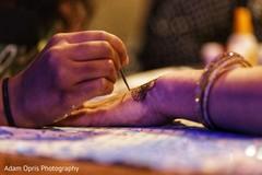 Closeup capture of Indian henna art.