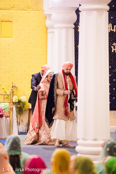 Indian groom and Maharani during the ceremony
