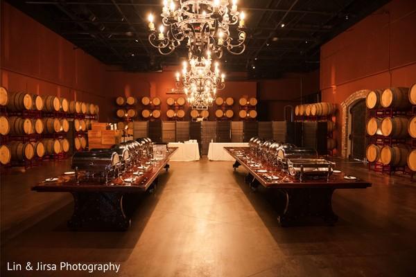 Details of the gorgeous reception venue