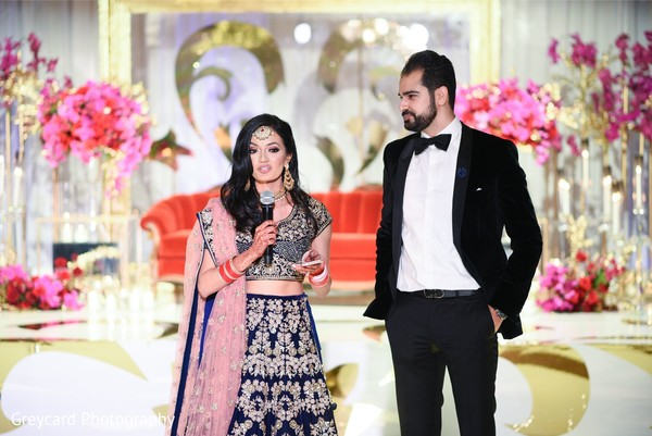 Indian bride delivering a message