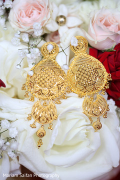 Incredible Indian bridal ceremony earrings.