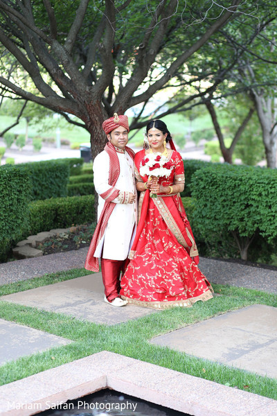 Indian couple meeting for their first look.
