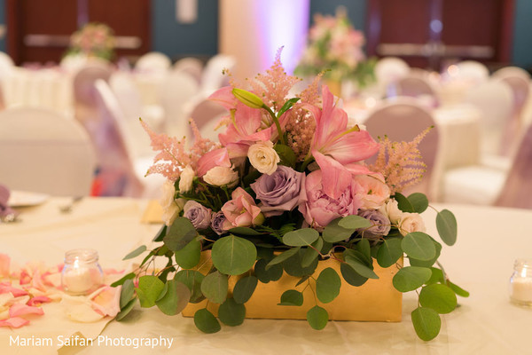 Dreamy Indian wedding flowers table decor.