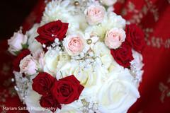 Magnificent Indian bridal ceremony bouquet.