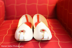 Elegant Indian groom's mojaris.