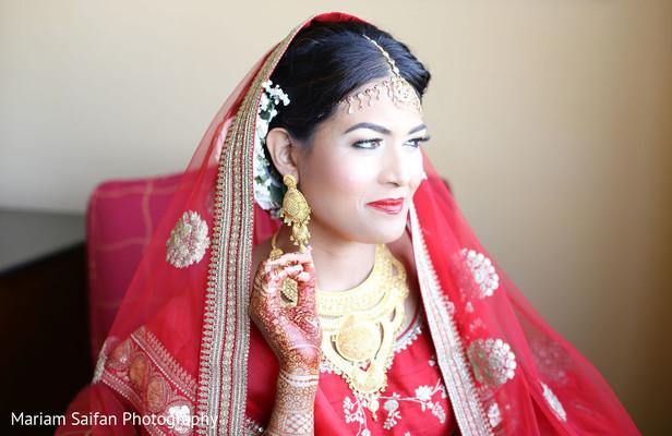 Maharani with her ceremony jewelry on.