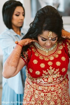 Lovely Indian bride getting ready for her big day.