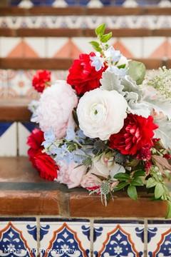 Indian bridal ceremony bouquet.