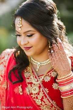 Dreamy Indian bride's portrait.